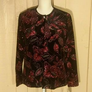 NWT Notations 2 in 1 look blouse top size XL